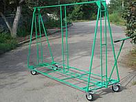 Транспортная тележка для размещения и транспортировки рекламного баннера