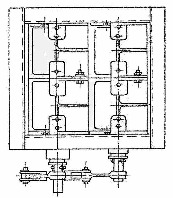 Клапан  прямоугольный двухосный ОН 536-04
