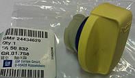 Крышка (пробка, заглушка) маслозаливной горловины в сборе с прокладкой (уплотнительным кольцом) желтая GM 5650832 24454629 OPEL Astra-H/G Zafira-A/B