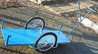 Грузовая тележка, вело прицеп  с удлиненным  кузовом.