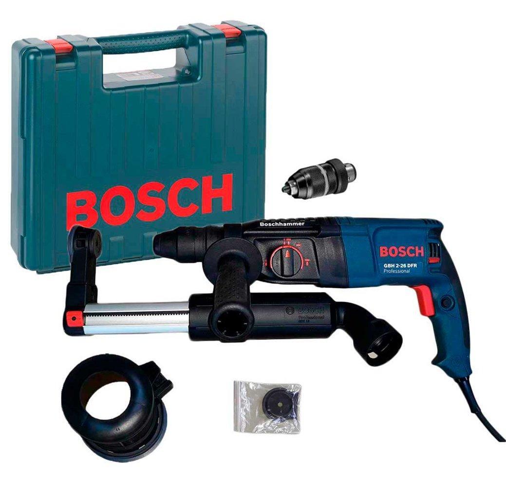 Перфоратор Bosch GBH 2-26 DFR + сменный патрон + чемодан + насадка пылеудаления GDE 16 Plus (0611254768G)