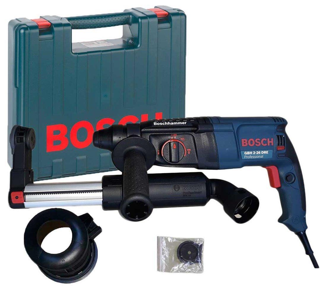 Перфоратор Bosch GBH 2-26 DRE + чемодан + насадка пылеудаления GDE 16 Plus (0611253708G)