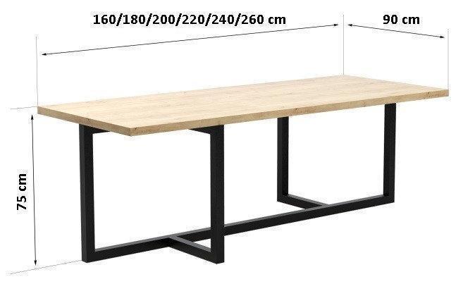 Обеденный стол Лофт LNK - LOFT 1200*900*750 с металлическими ножками