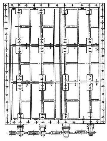 Клапан  прямоугольный четырехосный ОН 668-03, фото 2