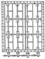 Клапан  прямоугольный четырехосный ОН 668-03