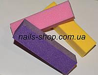 Баф для ногтей цветной