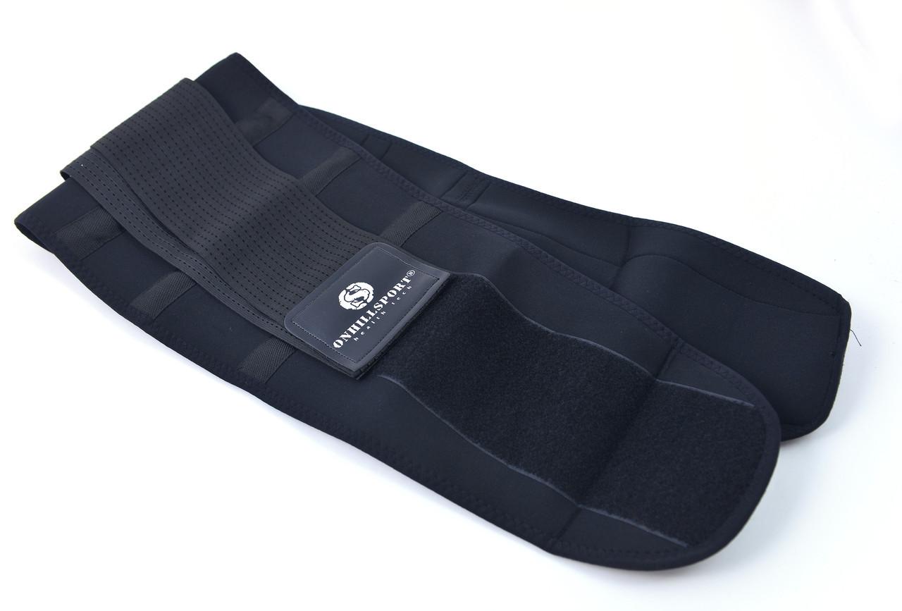 Пояс-корсет для поддержки спины ONHILLSPORT (черный) XS (50-60 см)