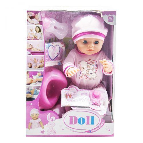 """Функциональный пупс с аксессуарами """"Doll"""" (в розовом костюмчике с овечками) YL1710N"""