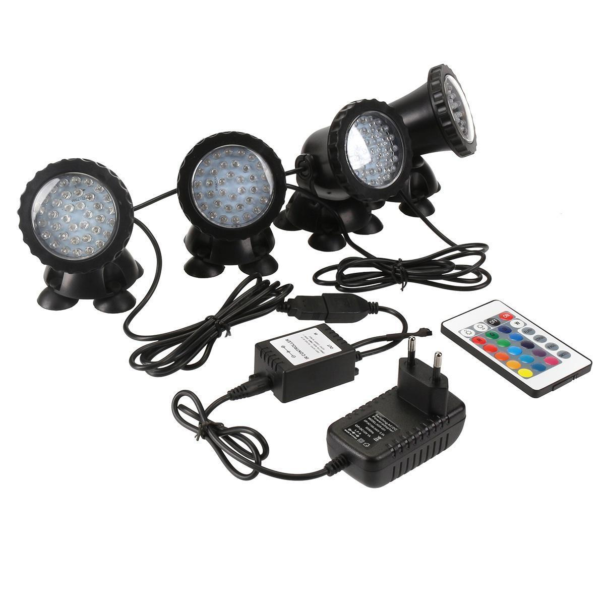 Светильники для пруда RGB 4*36 Led