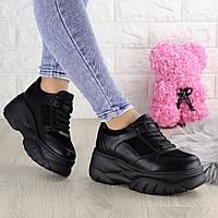 Женские кроссовки Paige черные 1372, фото 1