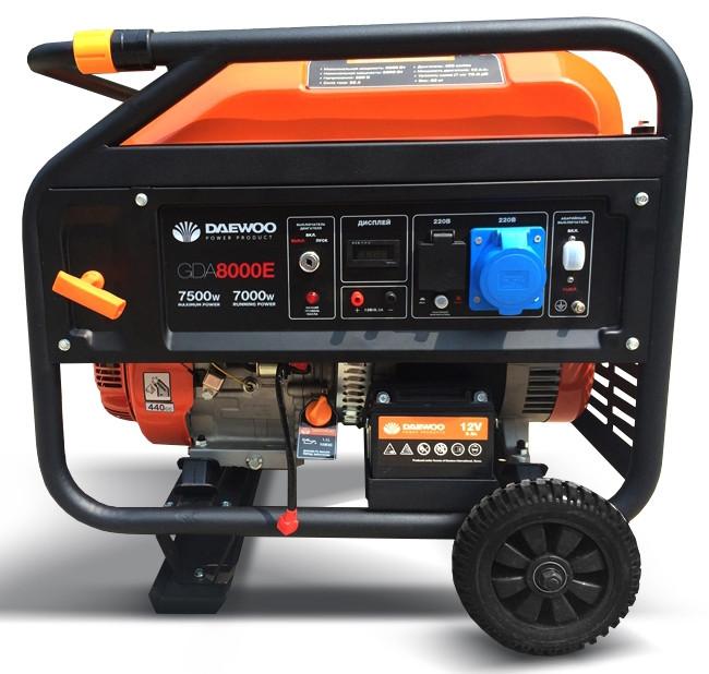 Однофазный бензиновый генератор Daewoo GDA 8000 E (7.5кВт)