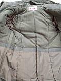 Зимнее пальто на девочку холлофайбер   158 р.  арт 66-479 Кузя серое., фото 4