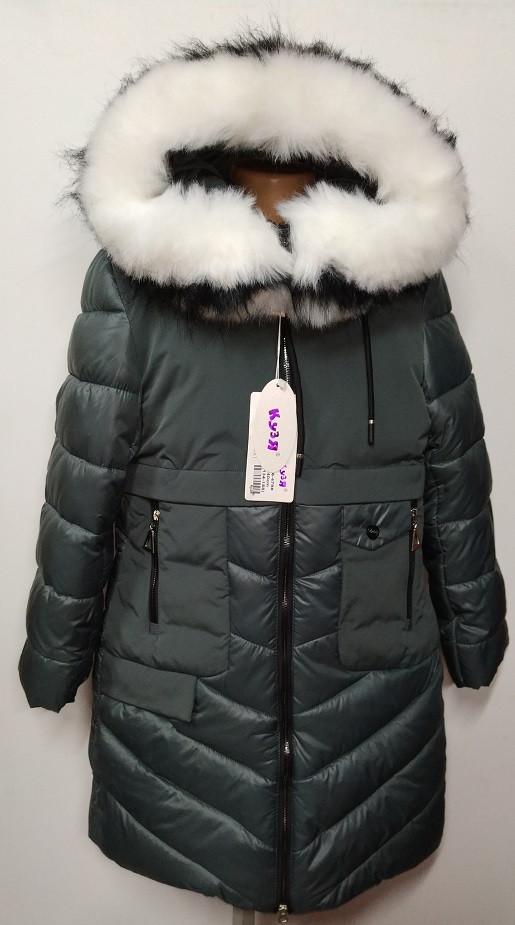 Зимнее пальто на девочку холлофайбер   158 р.  арт 66-479 Кузя серое.