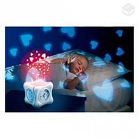 Ночник проектор детский радужный кубик Cube розовый Chicco 24301
