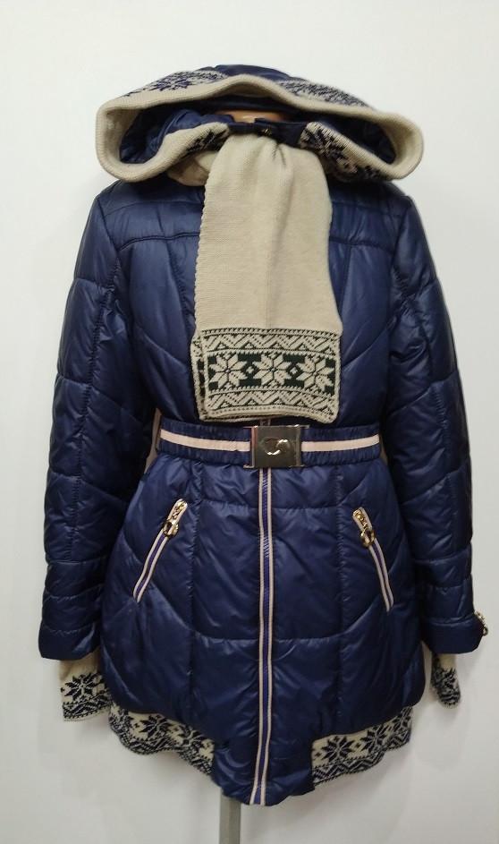 Зимнее пальто Лолита синее на девочку 146,158 р арт 5488