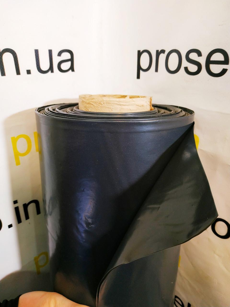 Пленка черная 60 мкм плотность. 3м. х 100м рулон. Строительная, для мульчирования