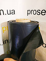 Пленка черная 60 мкм плотность. 3м. х 100м рулон. Строительная, для мульчирования, фото 1