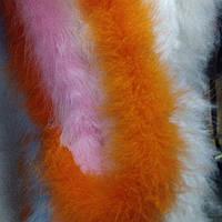 Боа из натурального пуха 5см/1.8м оранжевый