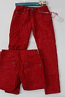 Утепленные вельветовые брюки для девочек на флисе -14, 16 лет