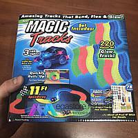 Светящийся гибкий гоночный трек Magic Tracks развивающая трасса-конструктор Меджик трек 220 деталей