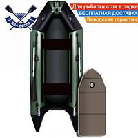 Килевая лодка Aqua Star D-310 трехместная со слань-книжкой сдвижные сиденья отверстие для клапана кильсона