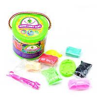 Набір легкого магічного пластиліну ТМ Moon light clay 10 кольорів ( в тубусі) (24)