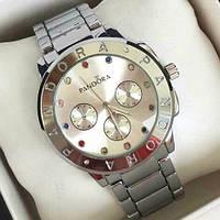 Часы женские стильные серебристые Pandora 116530 с цветными стразами