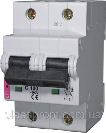 Авт. выключатель ETIMAT 10  2р C 80А (20 kA), ETI, 2133731