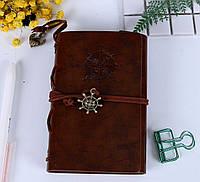 Винтажный блокнот в морском стиле. Коричневый, Вінтажний блокнот в морському стилі. Коричневий