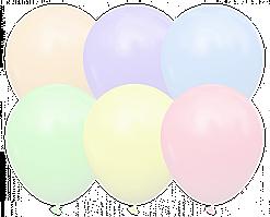 """Латексные шары  Kalisan 5"""" (12.5 см), STD MACARON ассорти 10 шт"""