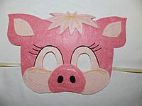 Карнавальная маска Поросенок Ниф-Ниф, фото 1