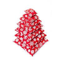 🎅 Набор новогодних подушек из 7 шт Красные в снежинку   Подушка декоративная новогодняя, Новогодняя декоративная подушка, Декоротивная новогодняя