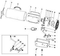KINLUX BGA-30T, BGA-50T запчасти для газовых пушек