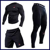 Компрессионная одежда Оджеда для спортзала UFC 3в1 Рашгард Мужские леггинсы Компрессионное белье #6