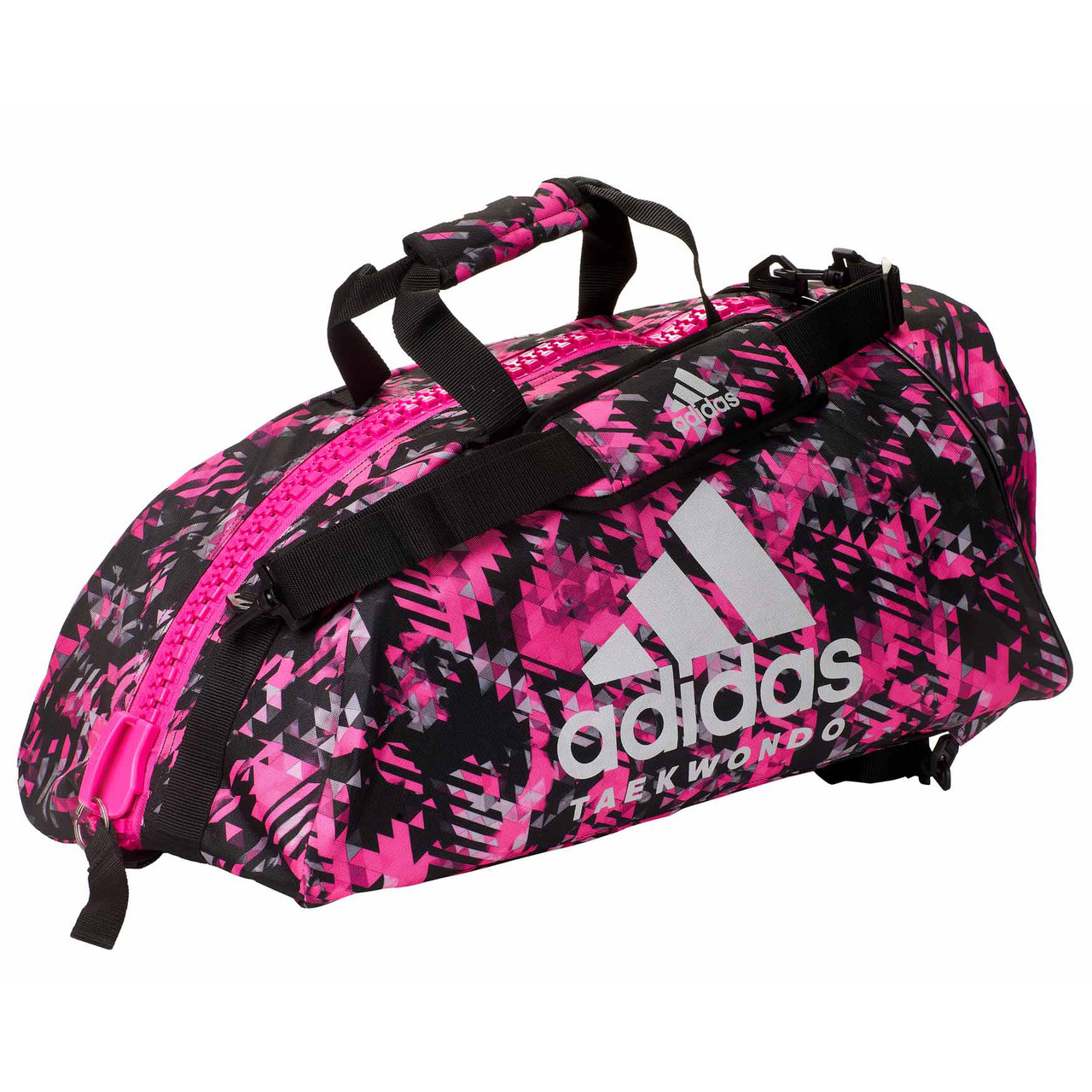 "Сумка-рюкзак Adidas 2in1 Bag ""Taekwondo"" Nylon, adiACC052 Розовая"