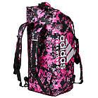 "Сумка-рюкзак Adidas 2in1 Bag ""Taekwondo"" Nylon, adiACC052 Розовая, фото 2"
