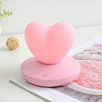 Силиконовый LED светильник-ночник Сердце. Розовый, Силіконовий LED світильник-нічник Серце. Рожевий