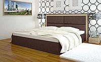 Двухспальная кровать с мягким изголовьем -Миллениум