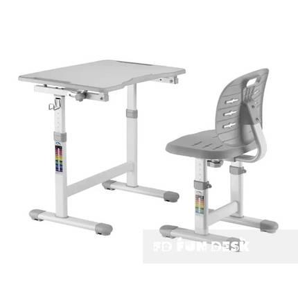 Комплект парта + стул трансформеры Omino Grey FunDesk, фото 2