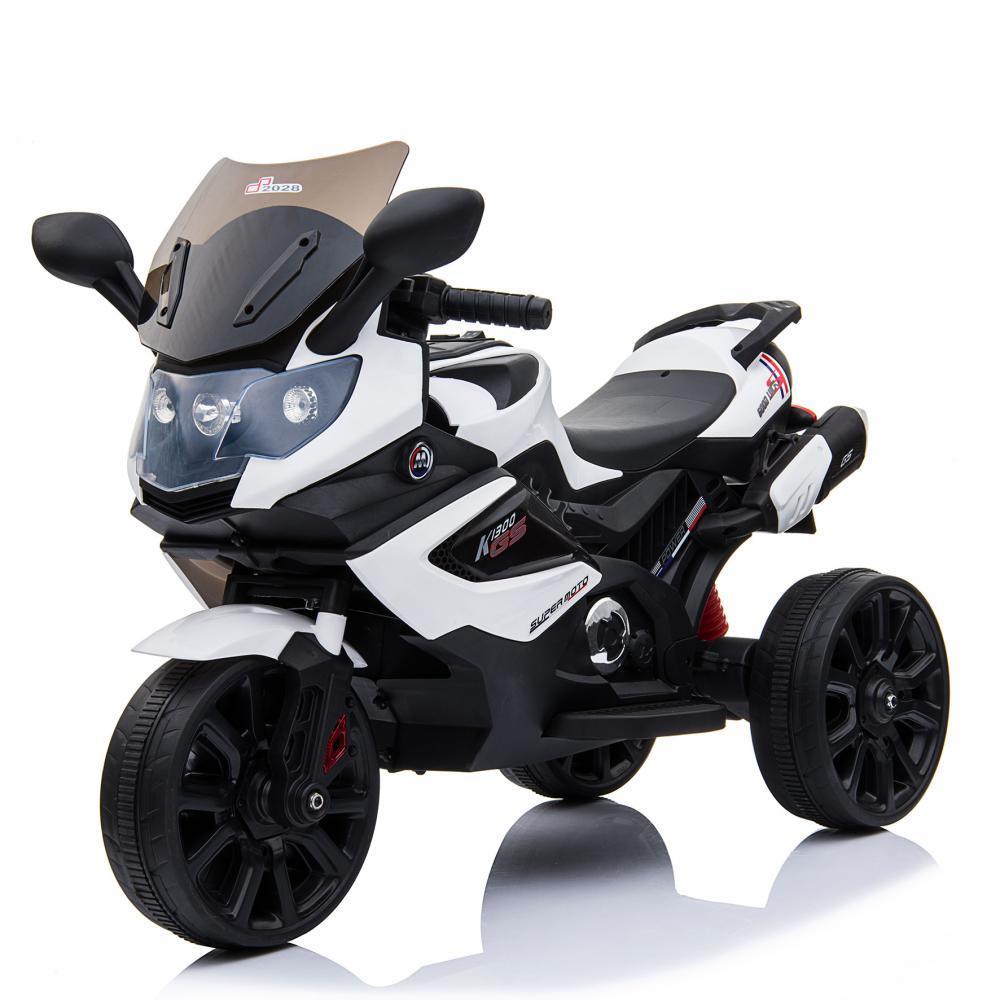 Электромобиль Мотоцикл M 3986EL-1 белый BAMBI