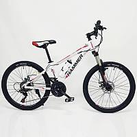 Горный подростковый Велосипед HAMMER-24 Бело Красный