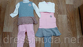 Комплект-трійка утеплений для дівчаток Sincere 12-36 міс.