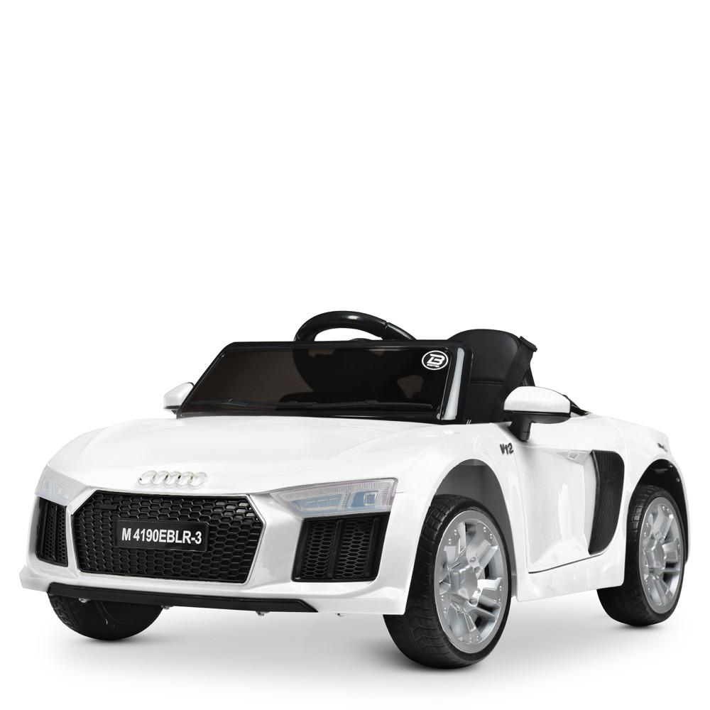 Электромобиль Машина M 4190EBLR-1 белый BAMBI