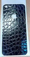 Декоративная защитная  пленка на Iphone 5 - черный аллигатор