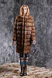 Шуба полушубок из соболя с отстежным подолом sable jacket fur coat , фото 2