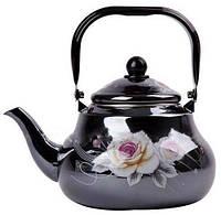 Чайник эмалированный со свистком Edenberg EB-3353 -  2,5л (Черный)