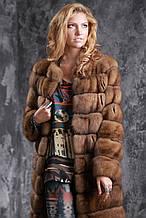 Шуба полушубок из соболя с отстежным подолом sable jacket fur coat
