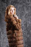 Шуба полушубок из соболя с отстежным подолом sable jacket fur coat , фото 3