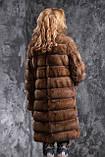 Шуба полушубок из соболя с отстежным подолом sable jacket fur coat , фото 4