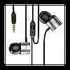 Навушники Baseus Encok Wire Earphone H04, Silver (NGH04-0S)